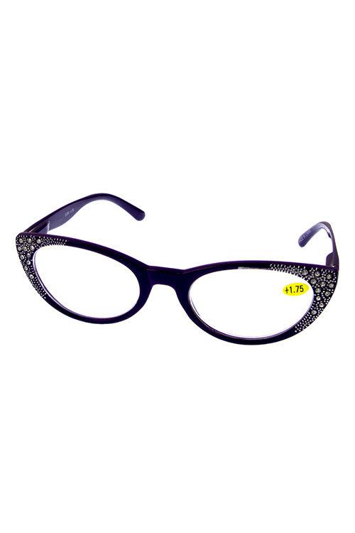 1e5493dfc62 Reader glasses rhinestone blended plastic reader glasses K-DRO1