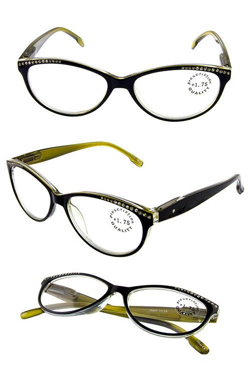 8acae2b239f rhinestone detailed plastic readers glasses S4-R597