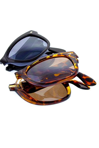 46f7cb290f Womens foldable horned sunglasses J1-BAQ1-10900