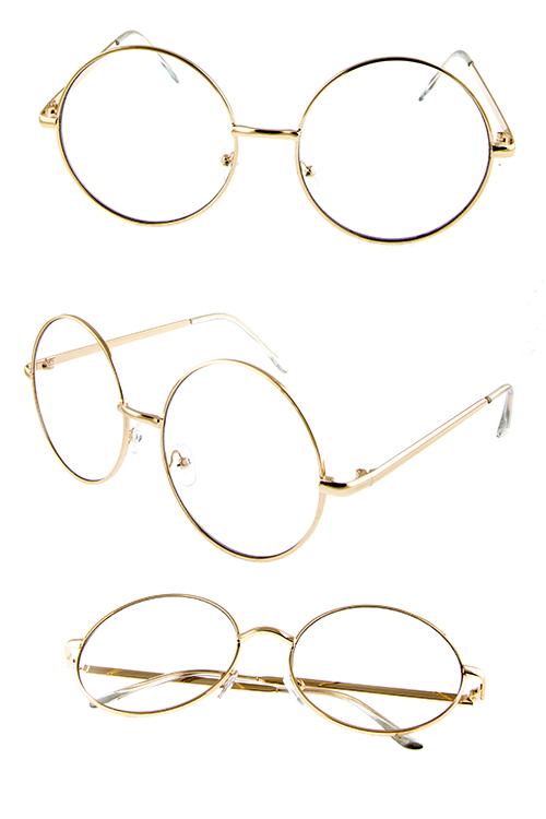 fbfb299912 ... Sunglasses Womens metal circle lens UV400 protected sunglasses J1-M4009CLR.    