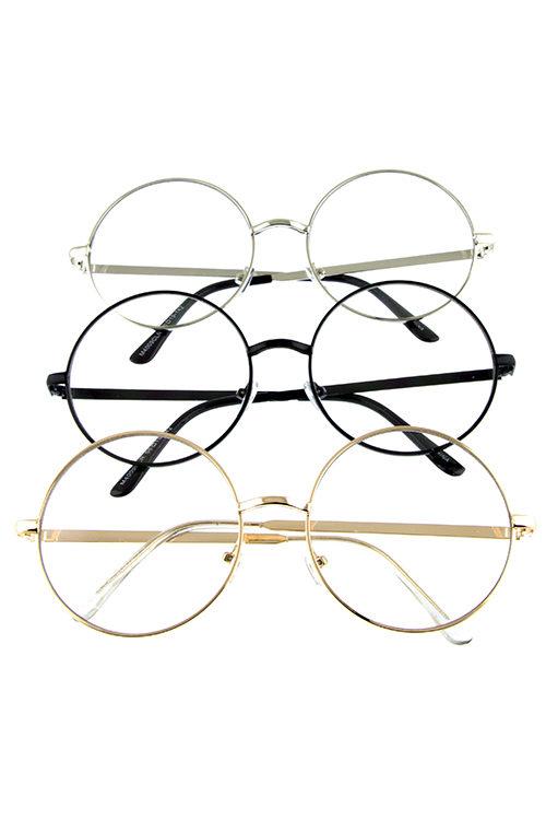 b99c391712 Womens metal circle lens UV400 protected sunglasses J1-M4009CLR