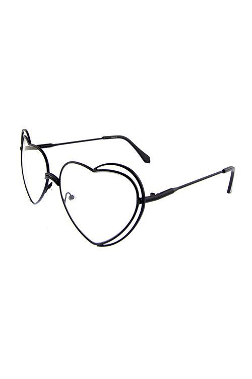 a47de81777 Womens clear lens heart UV400 protected metal sunglasses D1-M10623