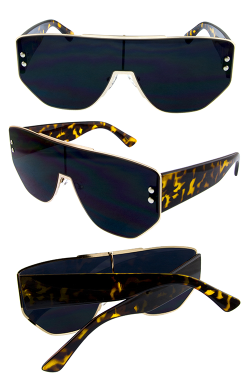 61fecda87c Womens metal square tech retro sunglasses A2-M10669