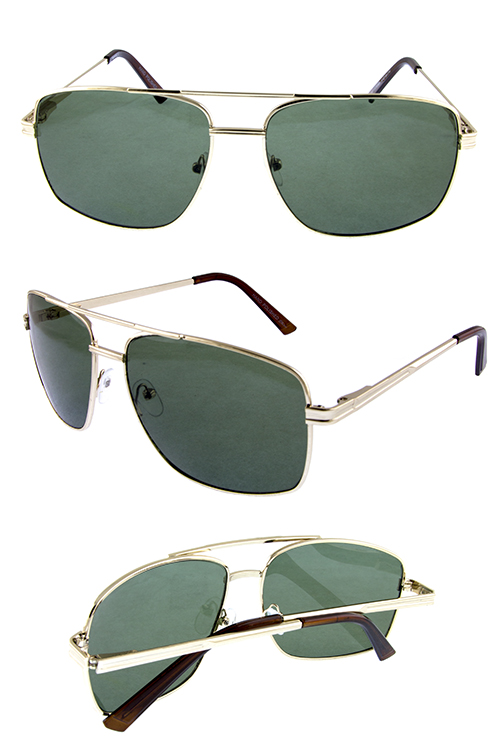 5b05a9b00a ... classic square metal glass lens aviator sunglasses I4-RG111703.   