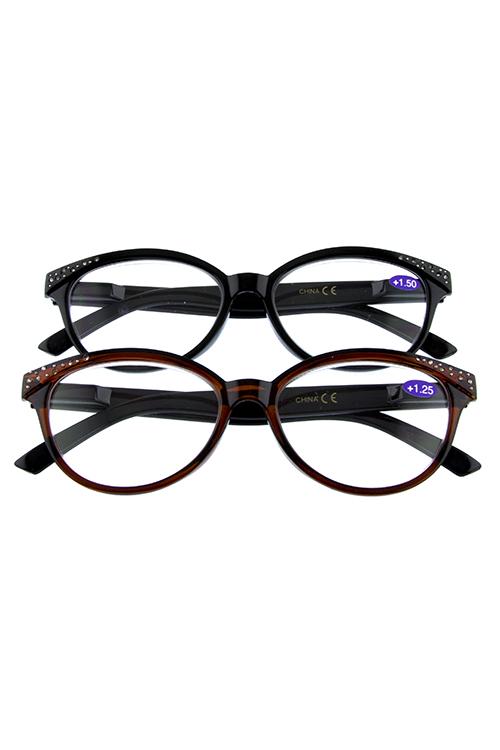 1c78bea2ddc Rhinestone plastic premium reader glasses S4-R380