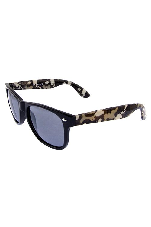 3e11dc5b864 Mens camo square horned frame sunglasses J1-BAQ1-10840