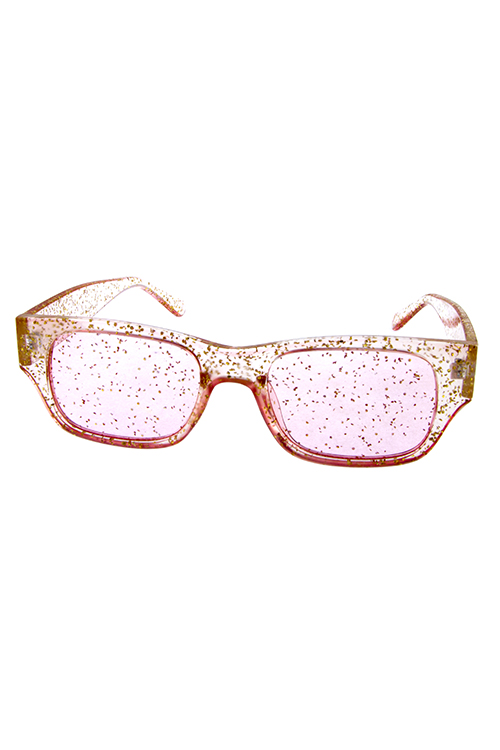 1d89877a6de3 ... Sunglasses/Womens transparent glitter square sunglasses D2-7575GLT. ; 