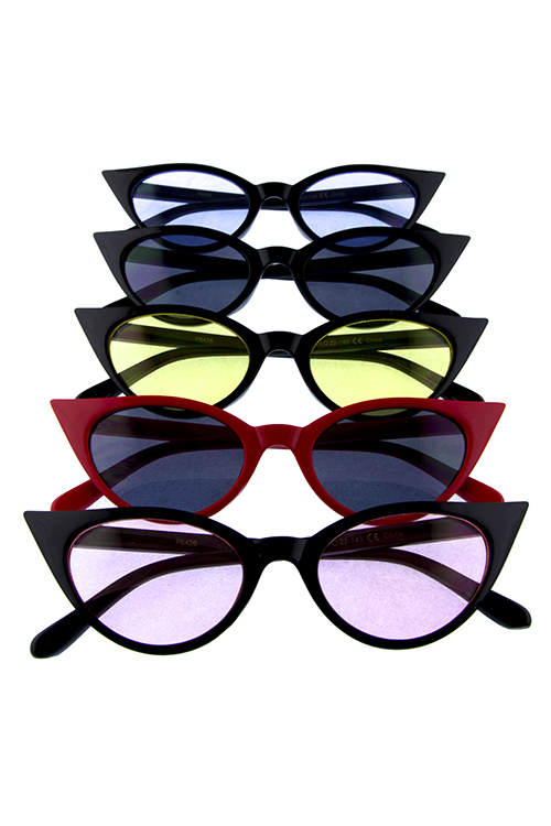 5dcfca36eb Womens High Pointed Catty Vintage Sunglasses J1 P6426 City Sunglass