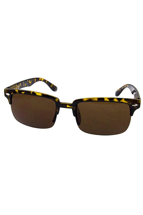 68ab04a7868 Unisex half framed horned rim sunglasses B3-WF47