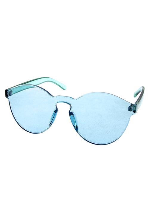 Womens Round Block Plastic Lens Sunglasses C1-CH92013