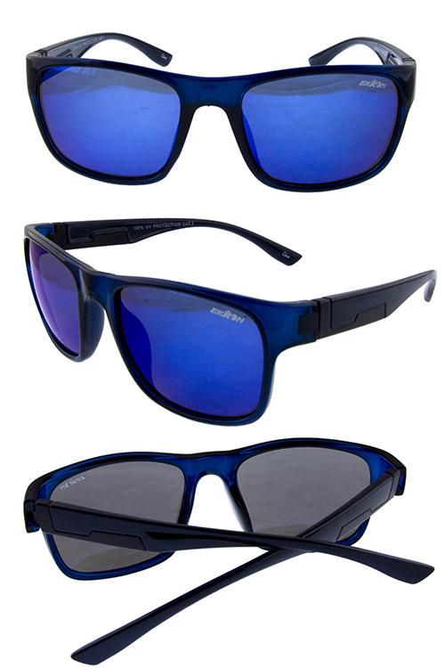 0b24506e532 Mens block square horned plastic sunglasses C1-YB94028