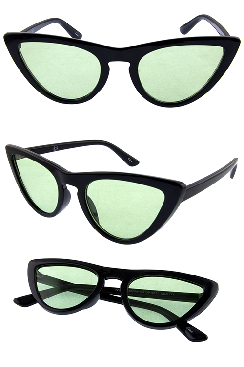 9bb476c831 Womens plastic trim fully rim cat eye sunglasses 1-TZ95013