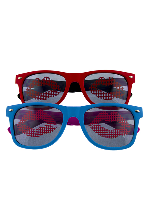 bec47e8f44 ... Sunglasses Womens kiss lip dapper horn rim square sunglasses I1-CLS10507.    
