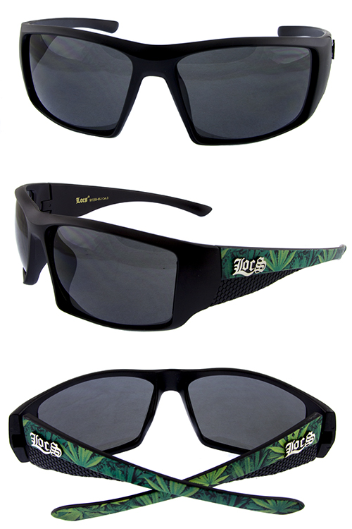 9ca563efcdb Mens action Locs square plastic sunglasses I3-LOC91138