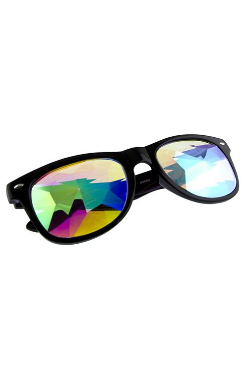 3bfef8ca03 Women kaleidoscope lens horned rimmed sunglasses DD-PT640