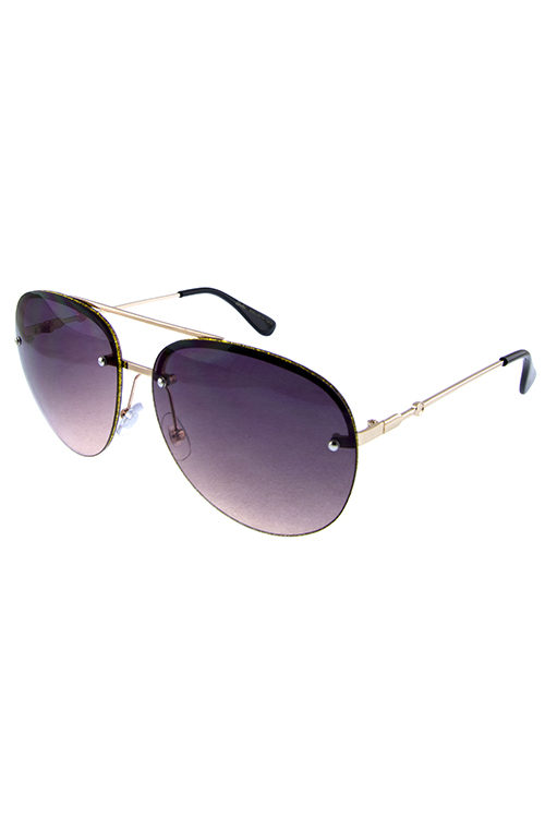 37e752c189 Womens glitter trim metal aviator sunglasses A3-GSL28164