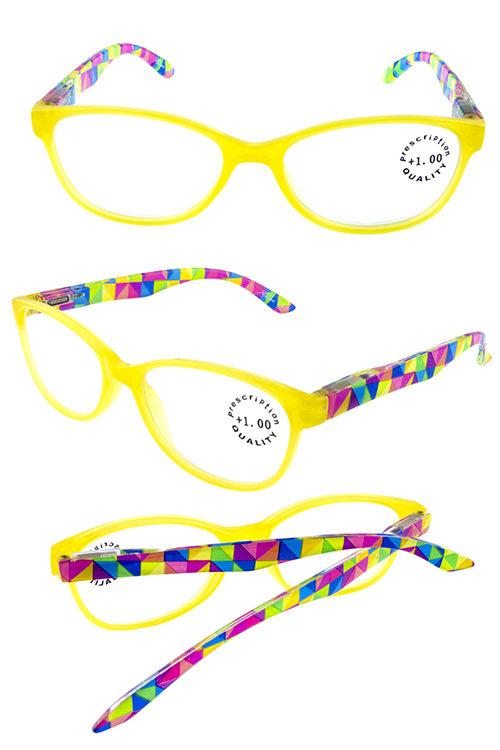 376061ff2f6a Plastic colorful geometric reading glasses K-R747