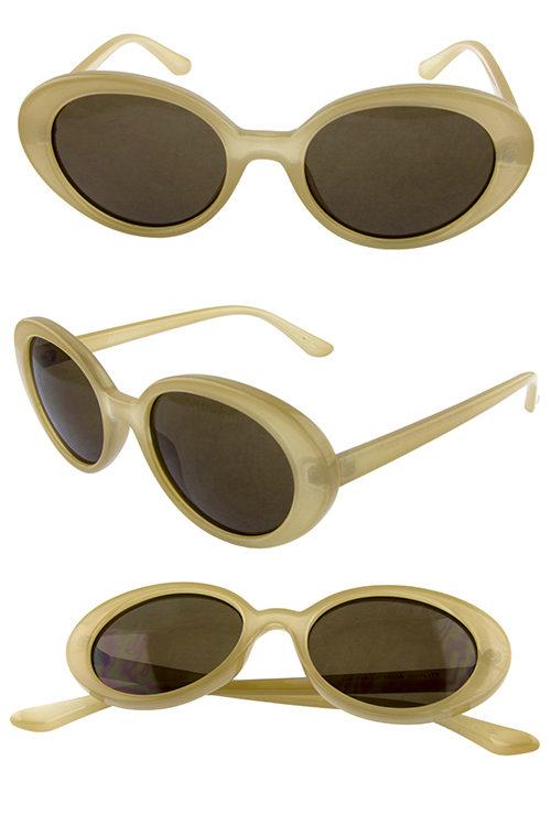 f0db8c138d4 Womens rounded oval geometric plastic sunglasses B2-DO91020