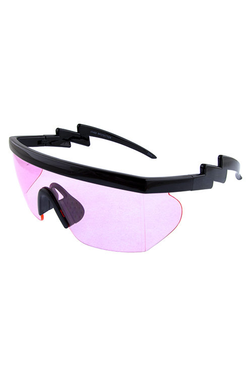 be77e465183 Womens zigzag fashion rimless square sunglasses F5-7380COL