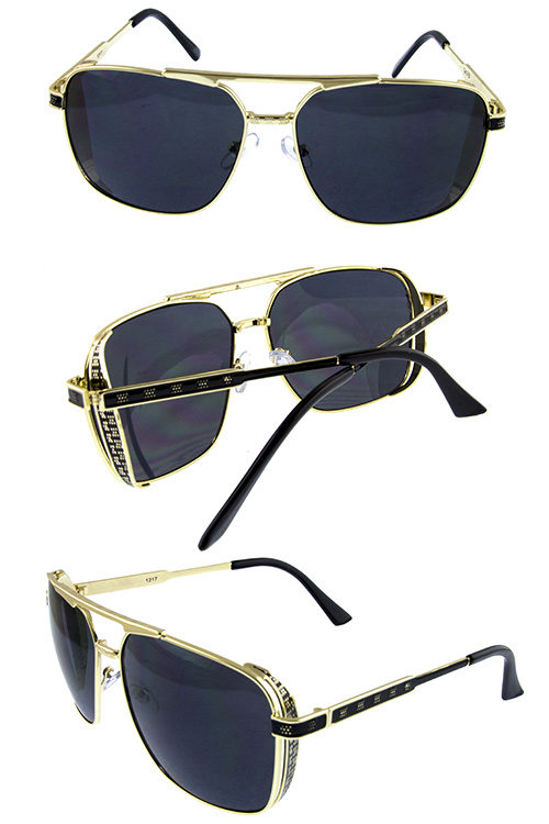 c60a37f1dce Unisex metal rebar square aviator sunglasses Y-1217