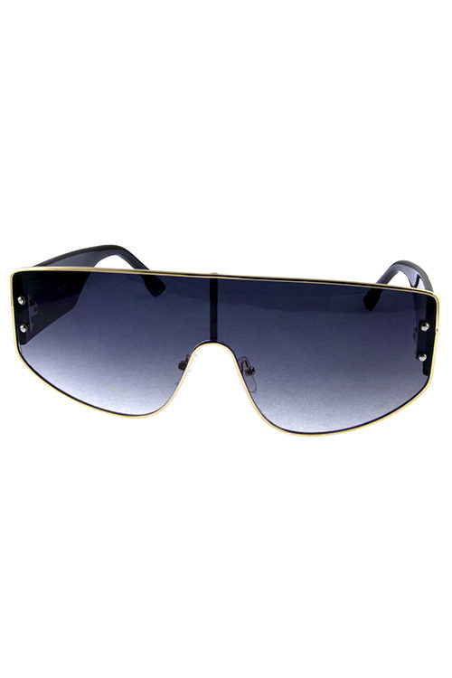 14f71849e04 Womens metal plastic blended square sunglasses X-4866
