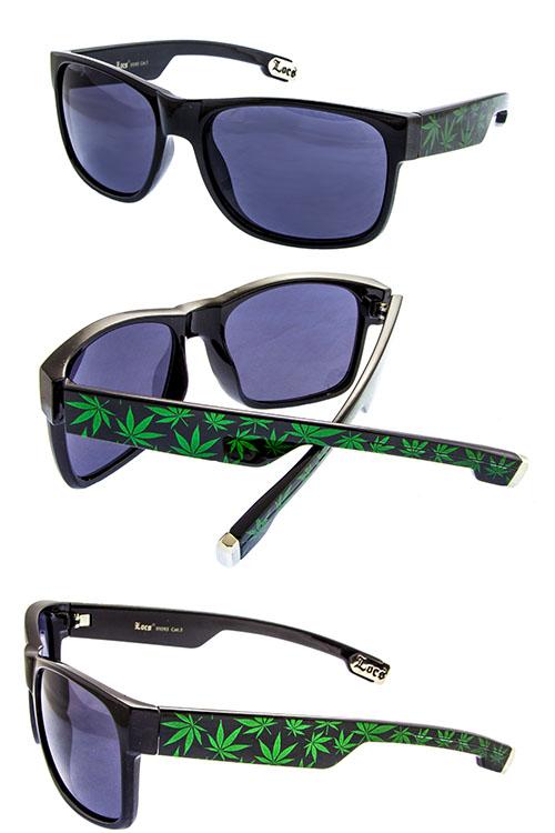 349177259d2 LOCS Hardcore Horned Rim Weed Plant Men s Sunglasses G2-LOC91093